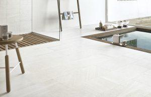 Edimax Sands white porcelian tiles