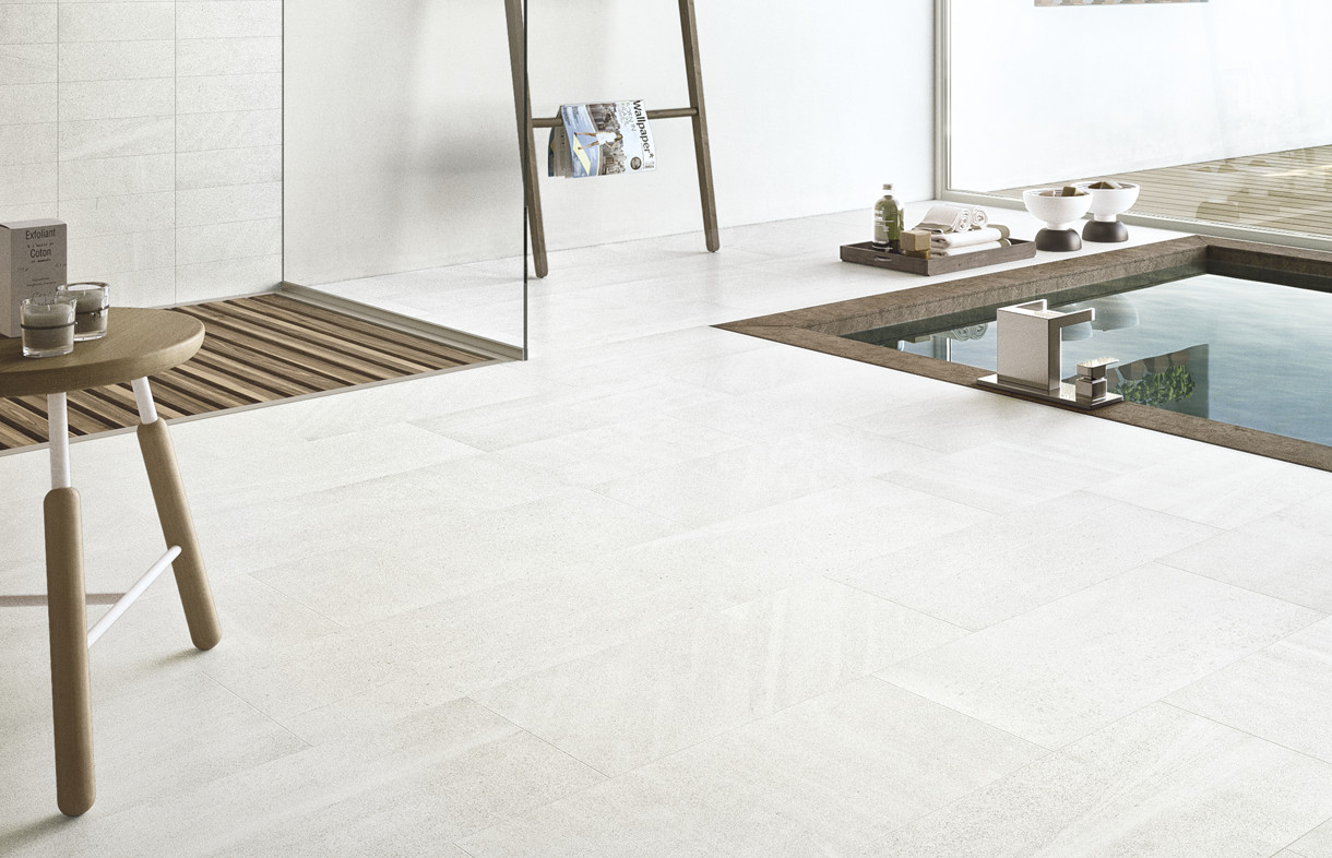 Edimax Sands white porcelian tiles