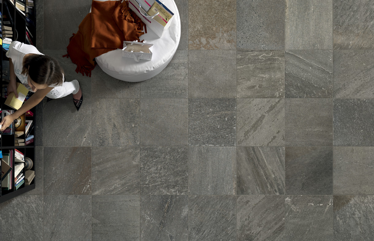 Edimax Quartz Design dark porcelain tile