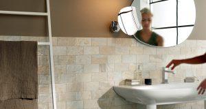 Edimax Slaty almond porcelain brick tile