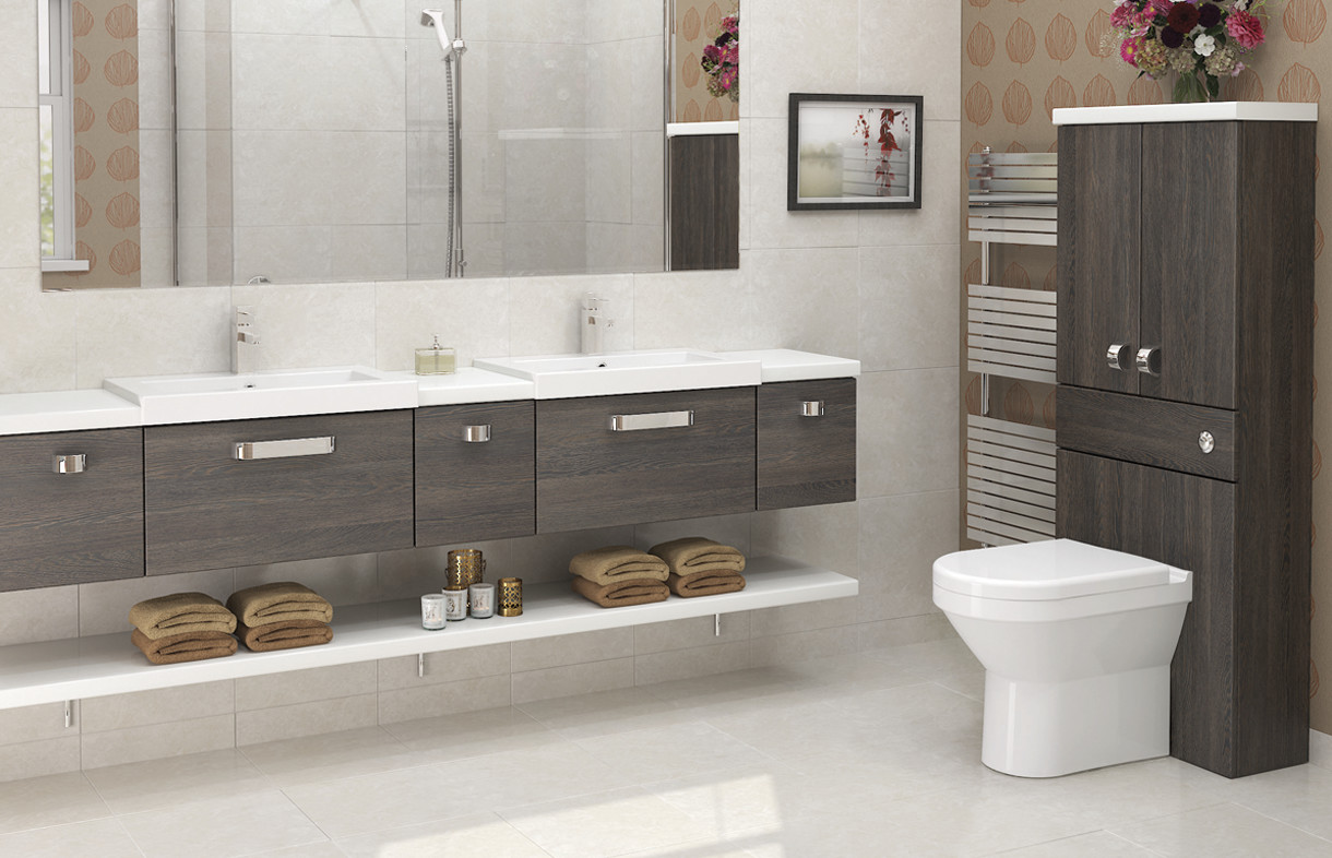 Mallard Mali Oak linear bathroom furniture