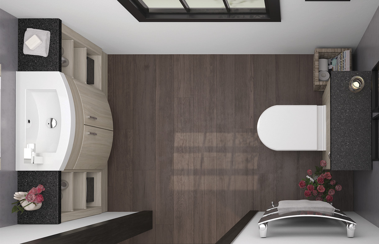 Mallard Swiss elm slimline bathroom furniture