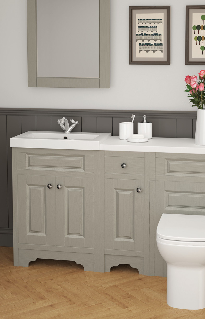 Mallard classic stone grey bathroom furniture