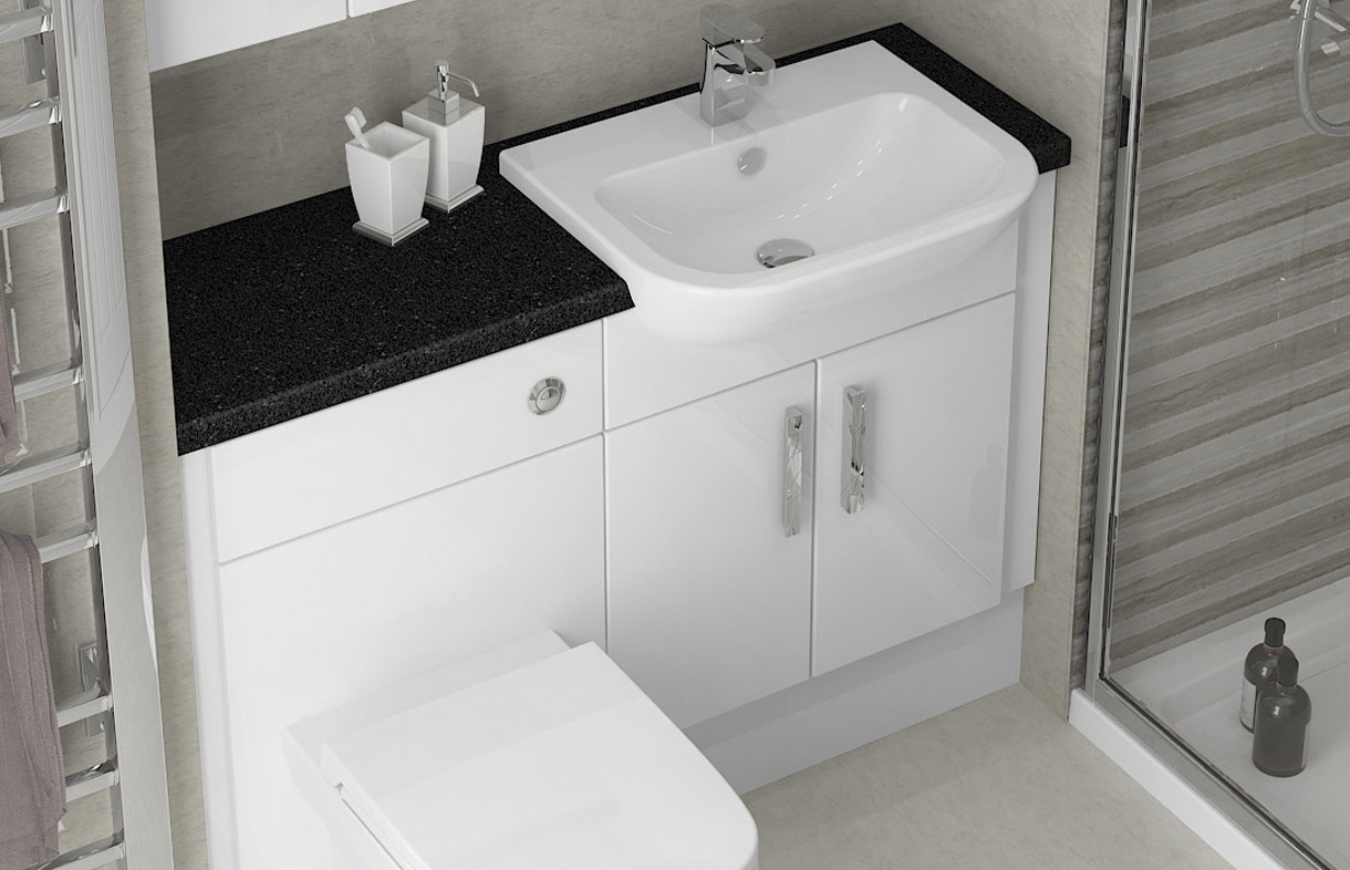 Mallard white gloss bathroom furniture