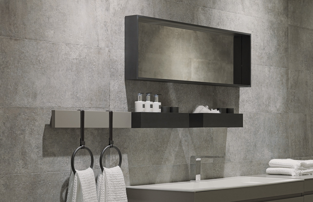 Porcelanosa Baltimore grey ceramic wall tiles