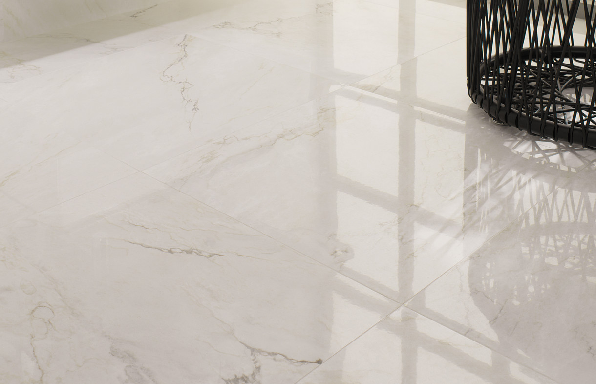 Porcelanosa Bianco Carrara porcelian floor tile