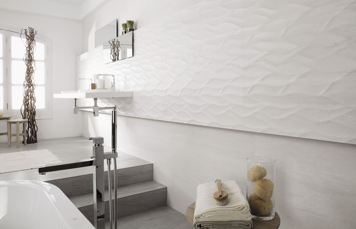 Porcelanosa Madagascar blanco ceramic tiles