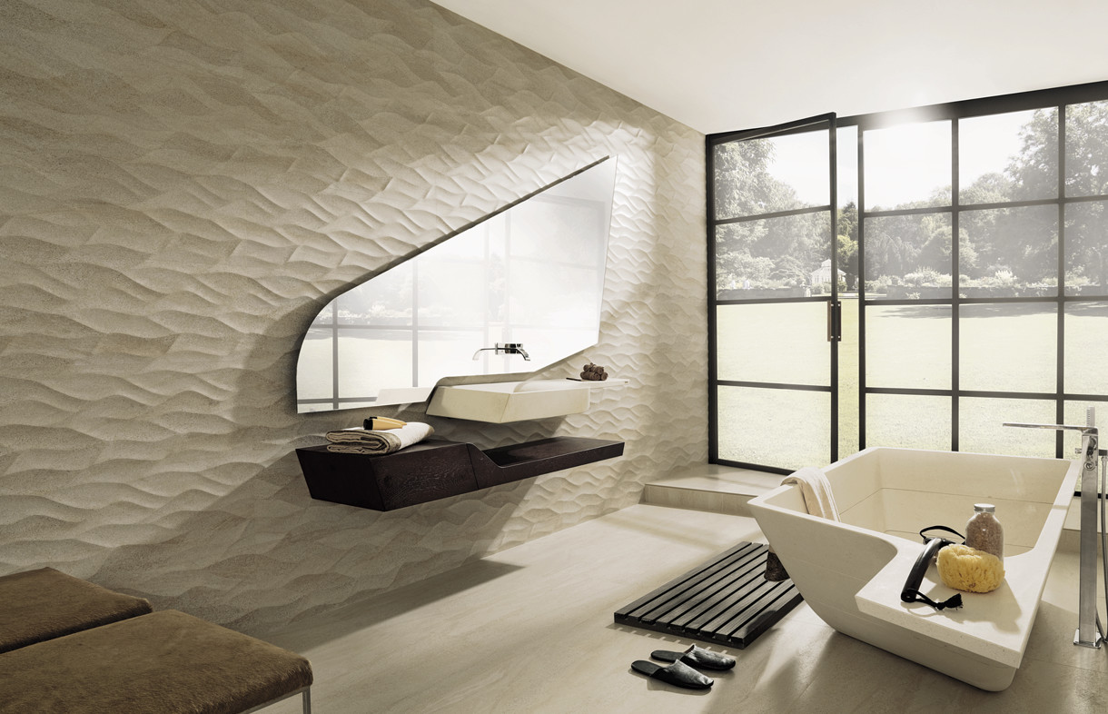 Porcelanosa Ona Madagascar beige feature tiles