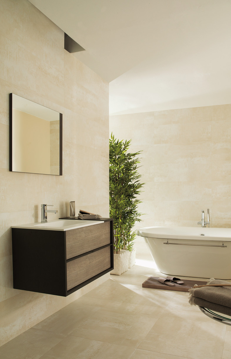 Porcelanosa Shine titanio ceramic wall tile