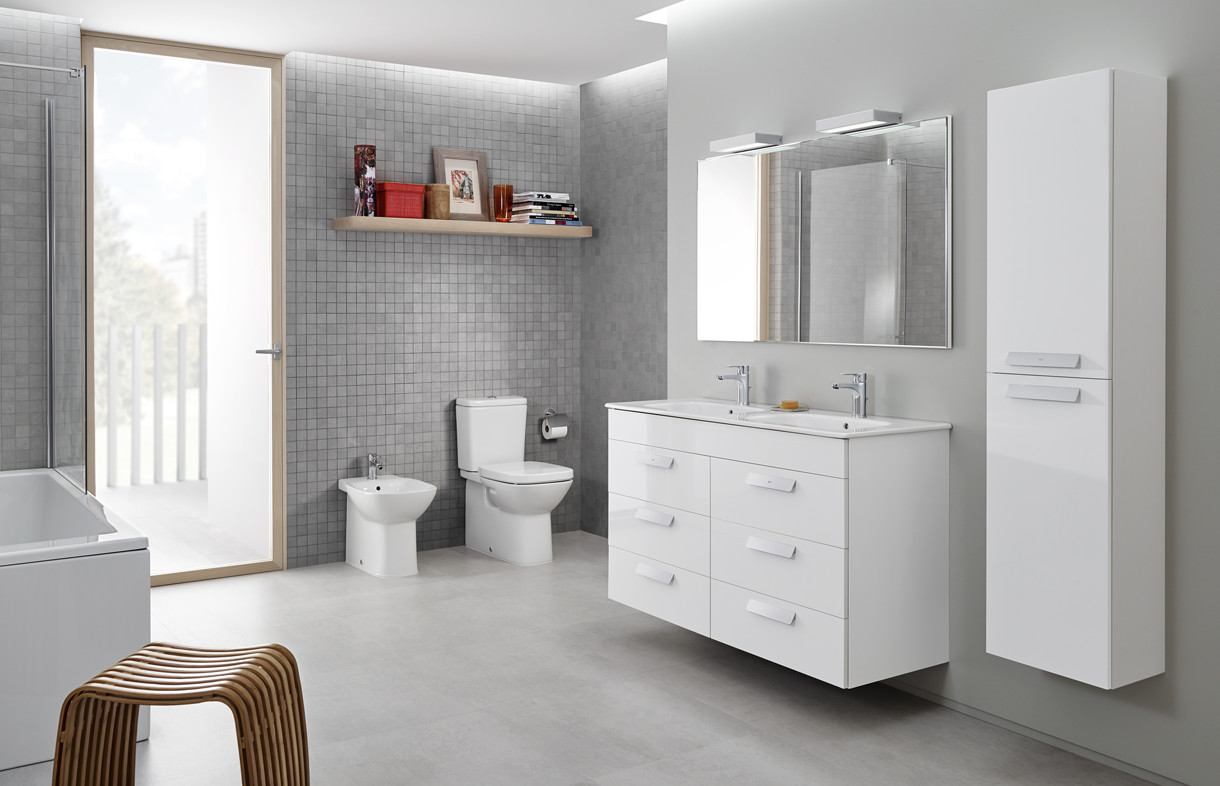 Roca Debba six draw vanity toilet and bidet