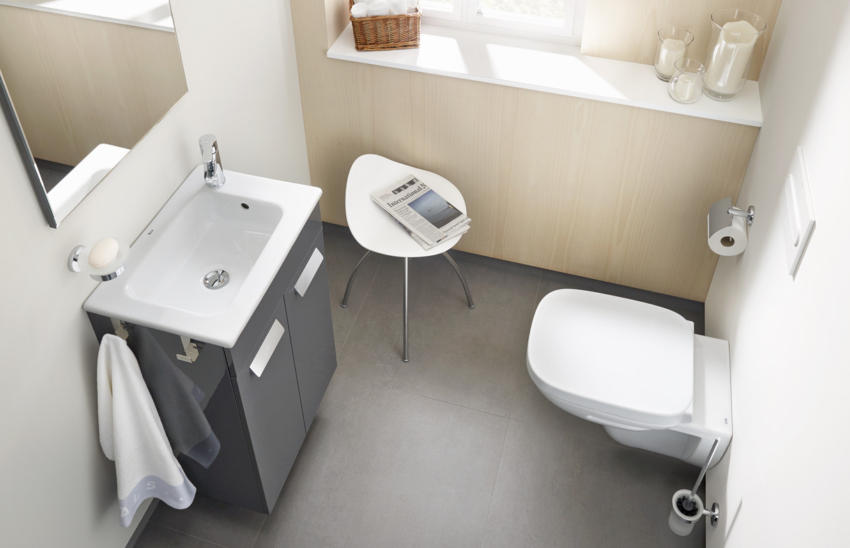 Roca Debba vanity unit with wall hung toilet