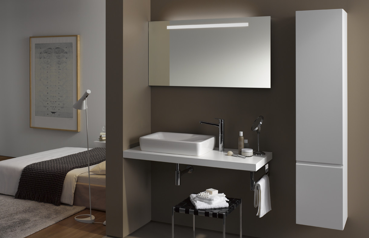 LaufenPro basin and cabinet
