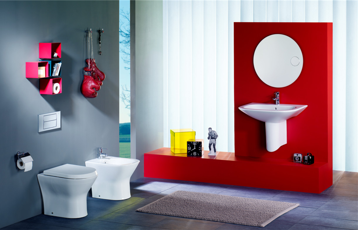Roca Nexo back to wall toilet, bidet and basin