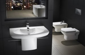 Roca Senso basin, toilet and bidet