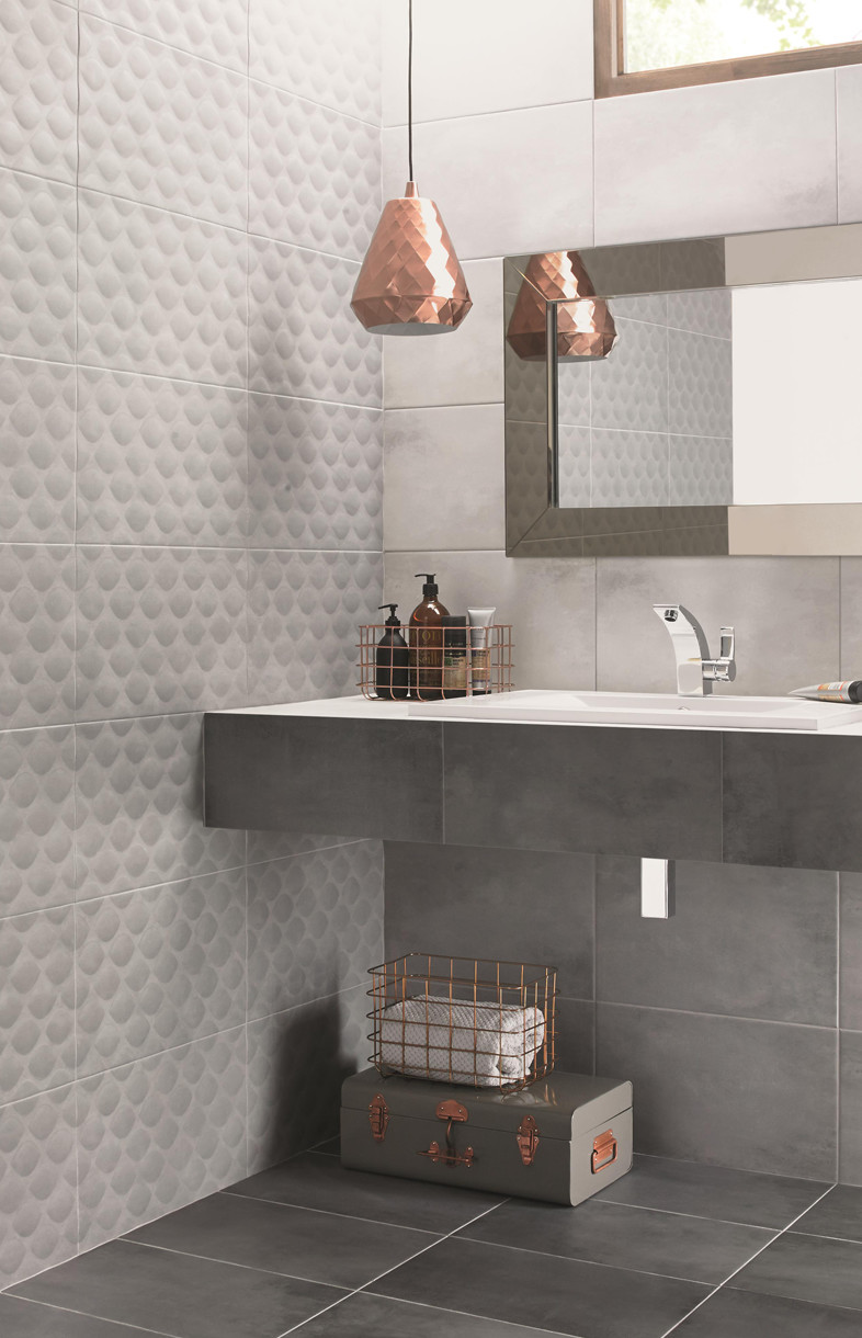 Ted Baker tactile grey ceramic tiles