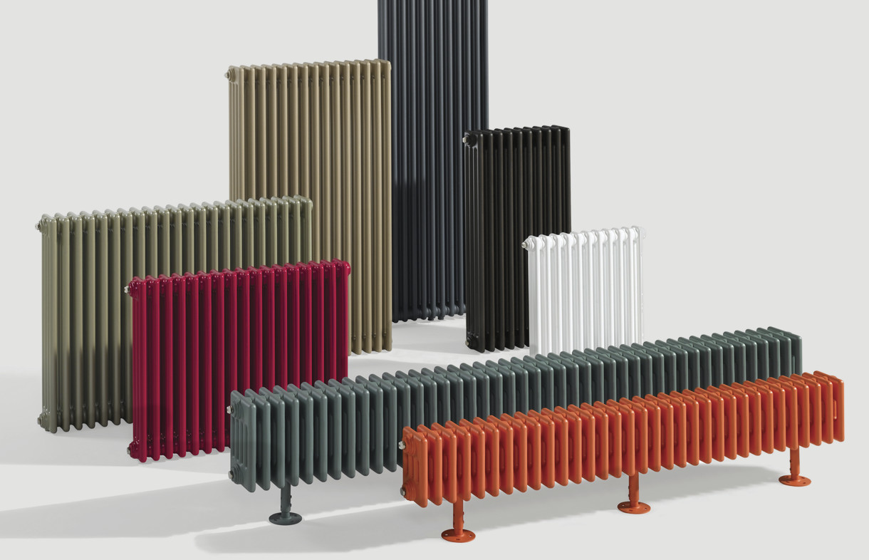 Zehnder Charleston coloured radiators. Central heating, electric or dual fuel available