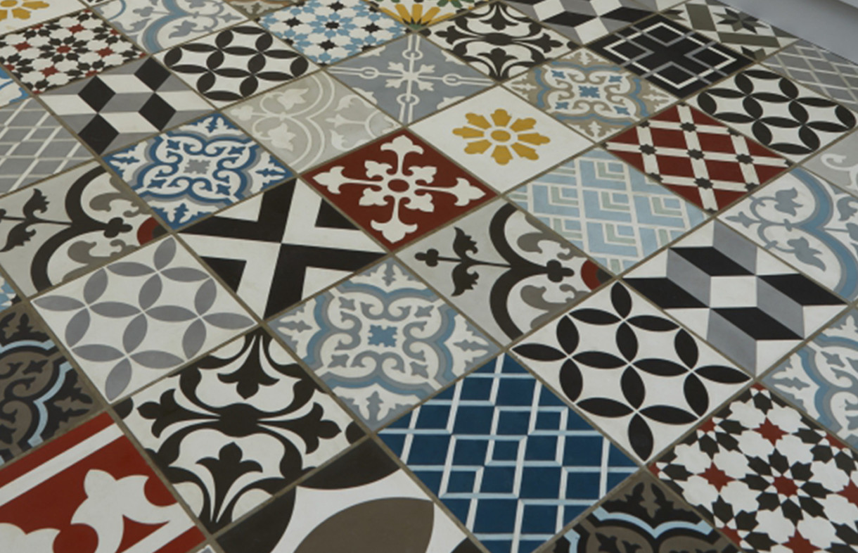 Ca Pietra - Multicolour Patchwork - encaustic tile