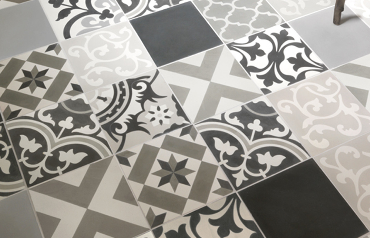 Ca Pietra - Patchwork Grey - encaustic tile