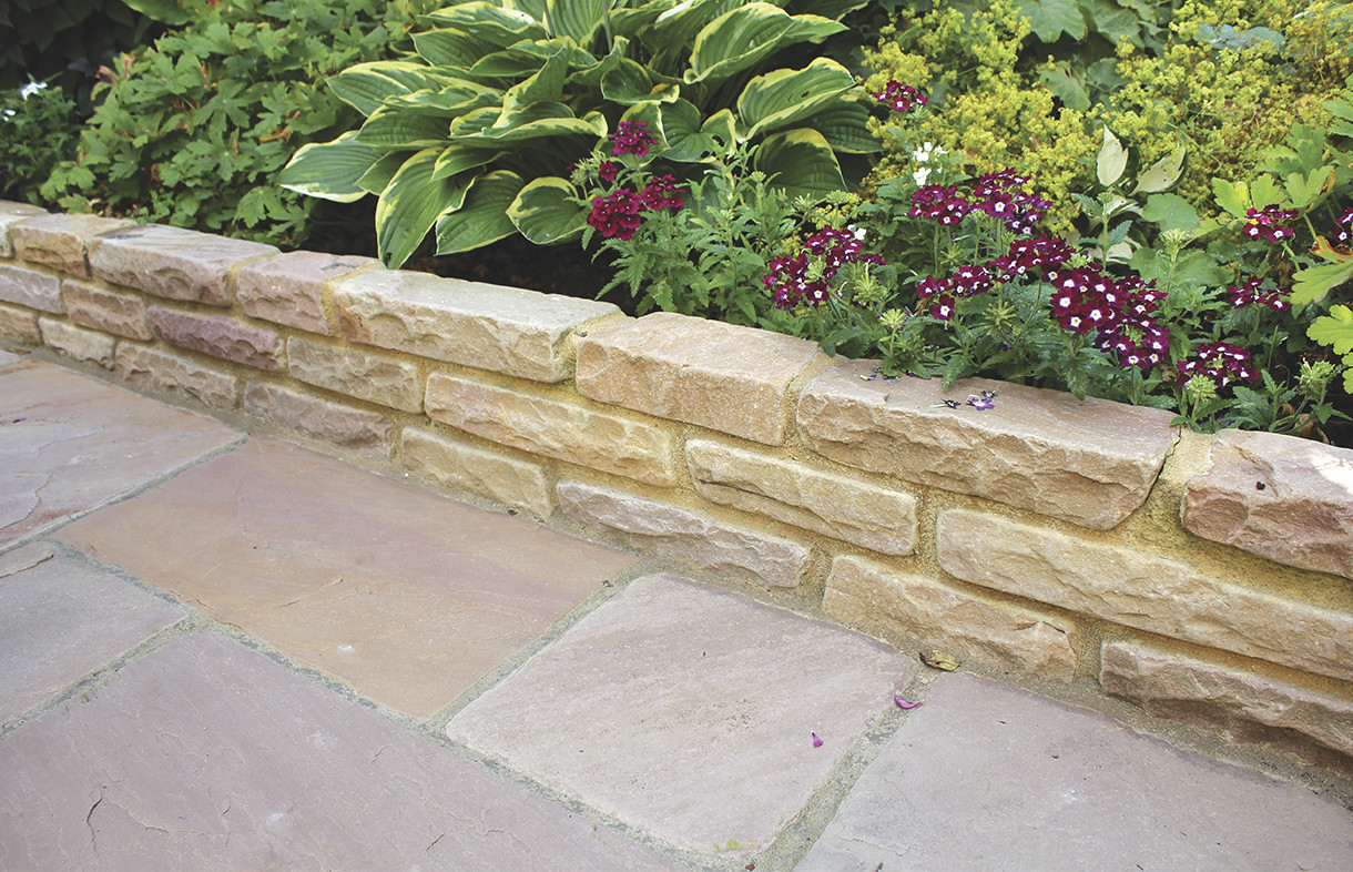 Global Stone old rectory walling modak rose