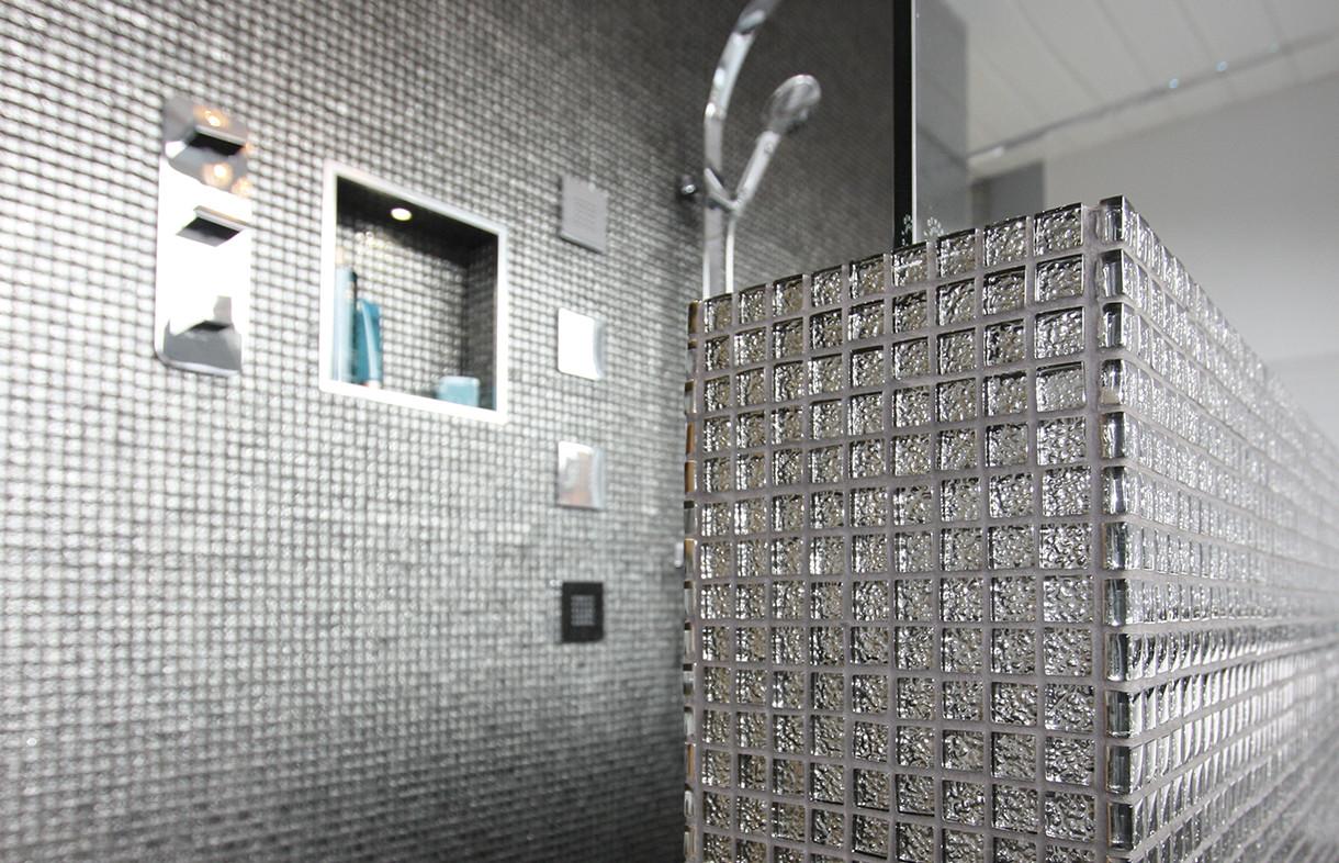 Waxman Cermaics chromatic mosiac tiles