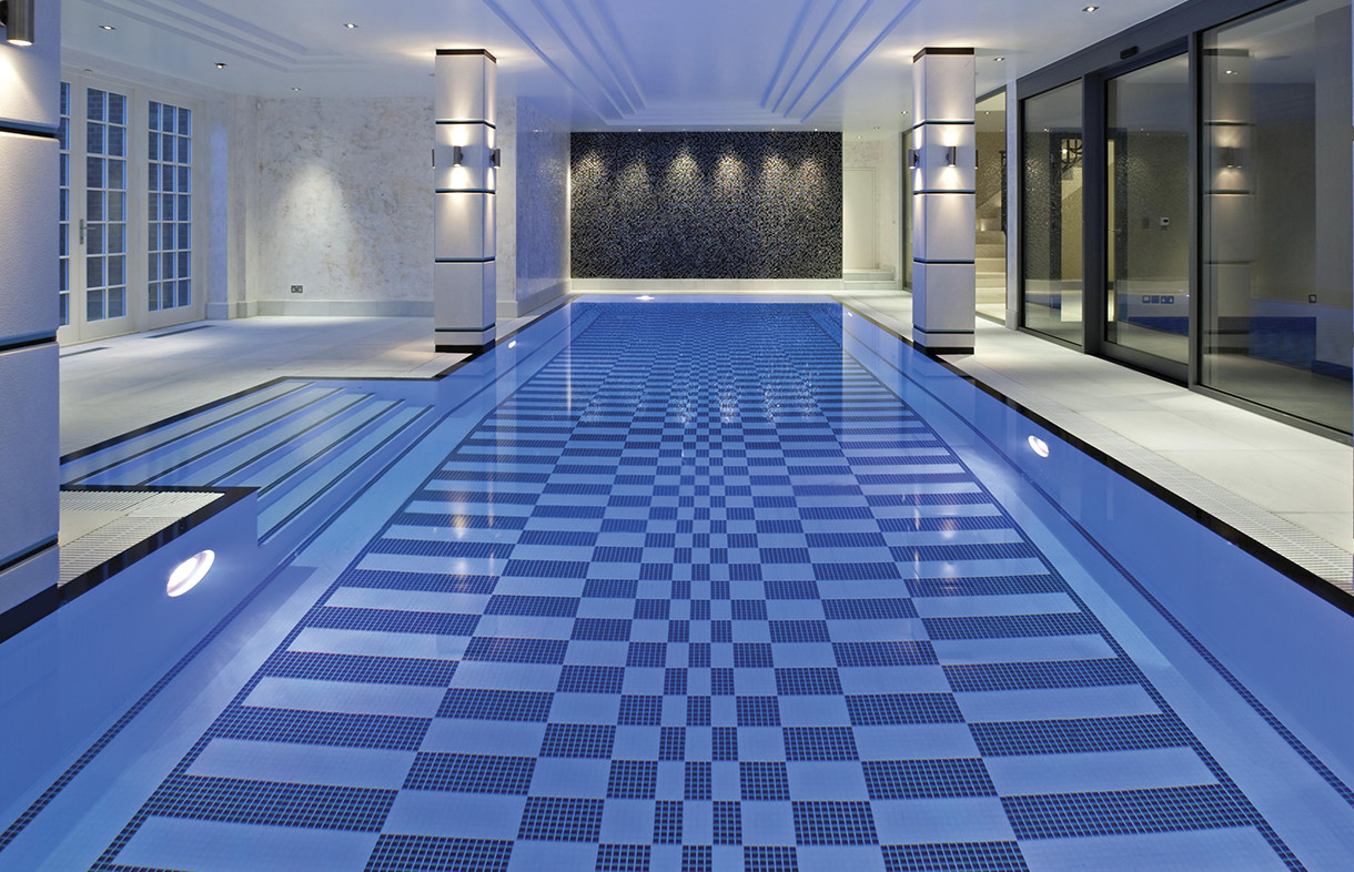 Waxman Cermaics lugano mosaic swimming pool tiles