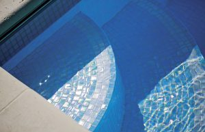 Waxman Cermaics lustre pearl mosaic swimmin pool tiles