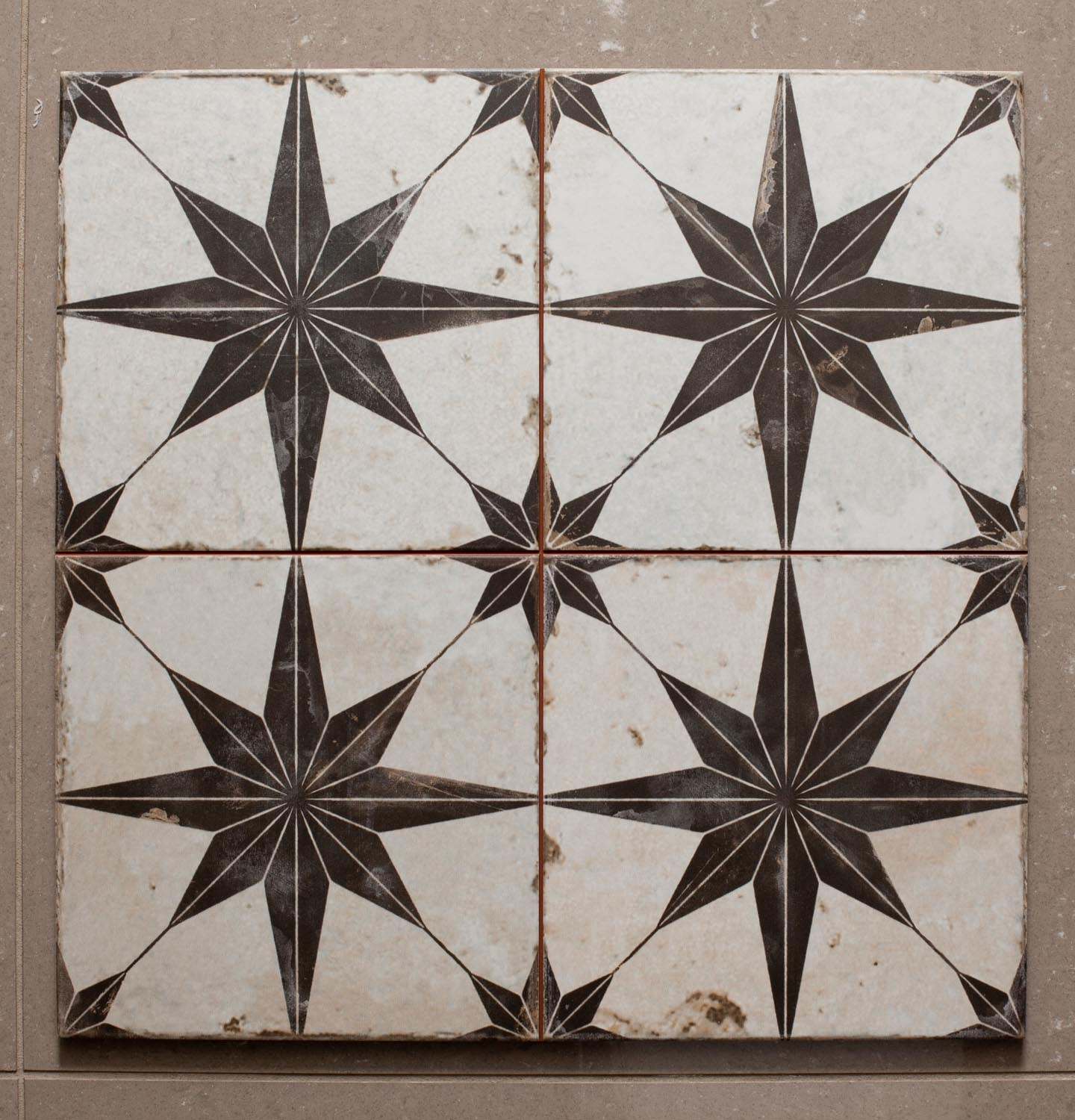 Ca'Pietra Spitafields Retro Star pattern tiles