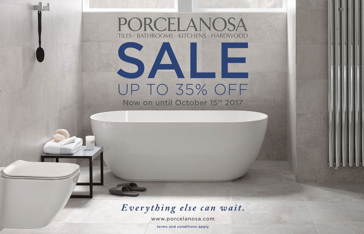 Porcelanosa Sale - 35% off til October 2017