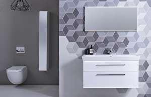 Roper Rhodes Scheme 1000mm White Gloss Ceramic Basin and Mirror