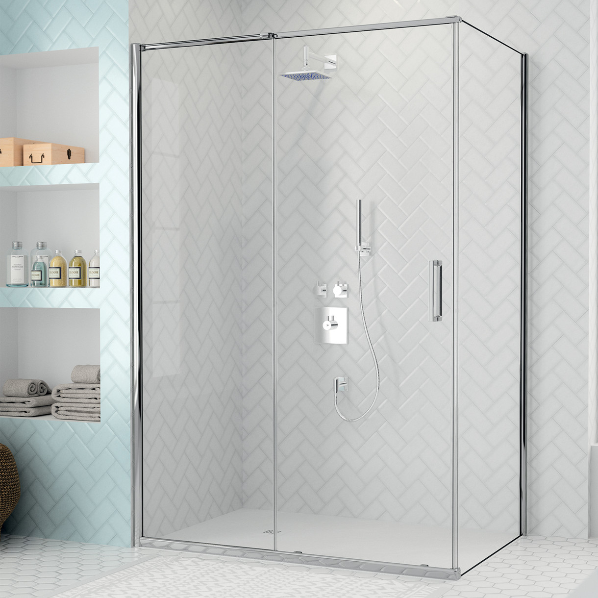 Arysto Eight sliding door with side panel