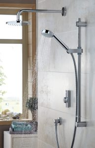 Aqualisa Visage digital divert shower with fixed head and riser rail