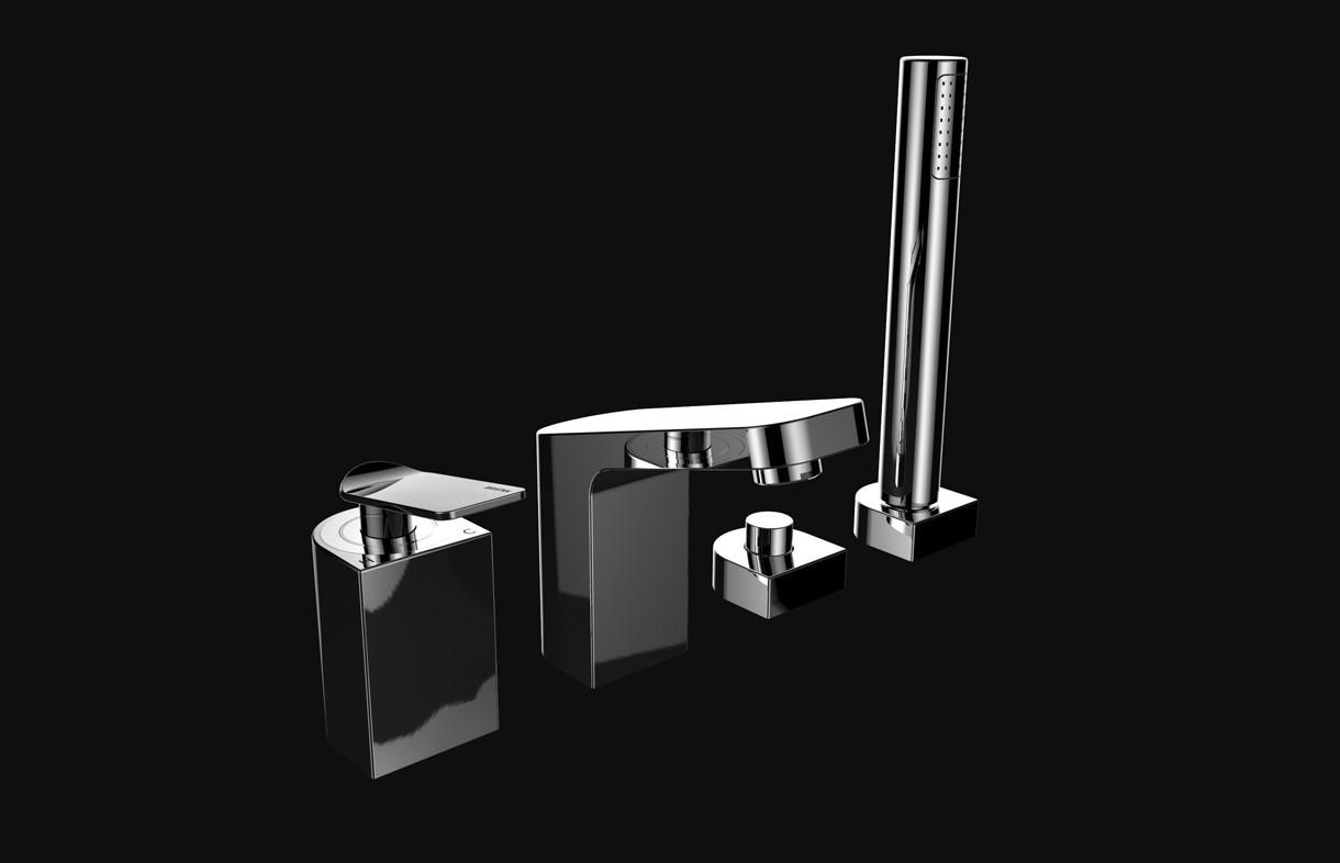 Bristan Alp 4 hole bath shower mixer tap and handset