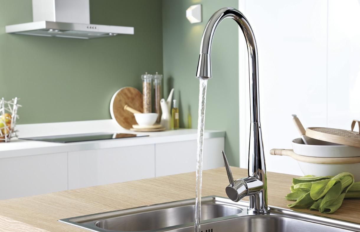 Bristan Champagne kitchen mixer tap