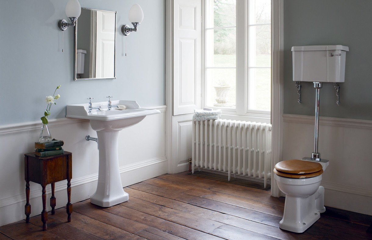Burlington low level WC traditional pedestal and basin