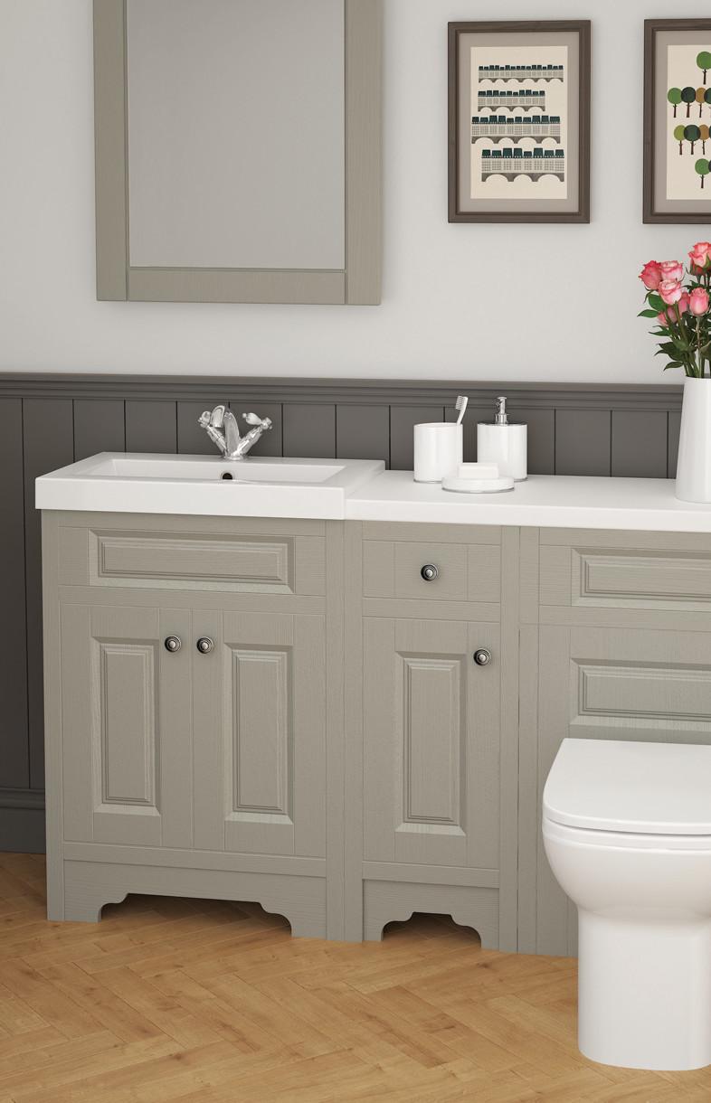 Mallard classic stone grey bathroom furniture