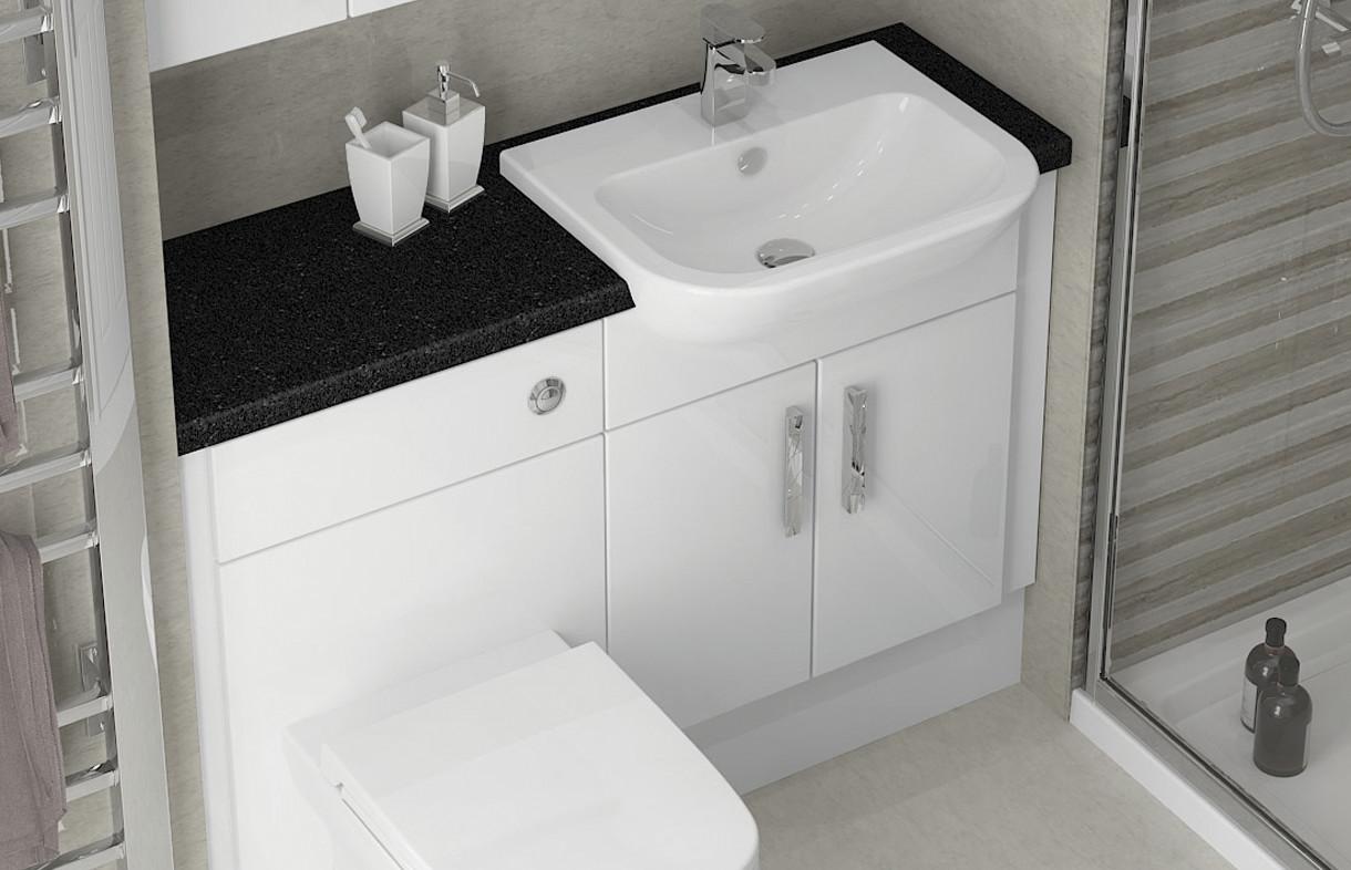 Mallard white gloss bathroom furniture