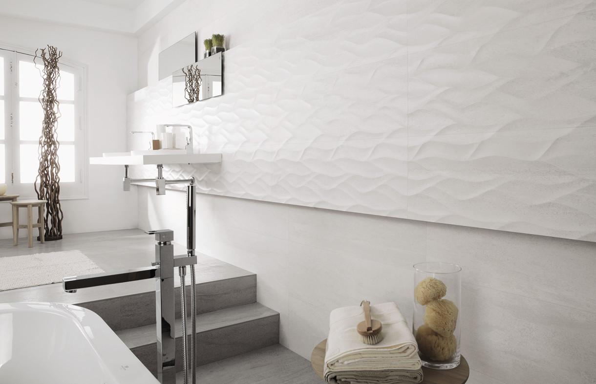 Porcelanosa Madagascar blanco ceramic tiles