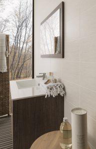 Porcelanosa Silk blanco porcelain wall and floor tiles