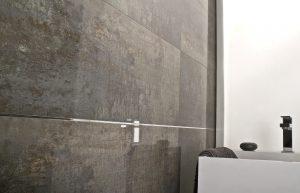 Porcelanosa Shine dark ceramic wall tiles