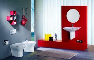Roca Nexo back to wall toilet, bidet and basin