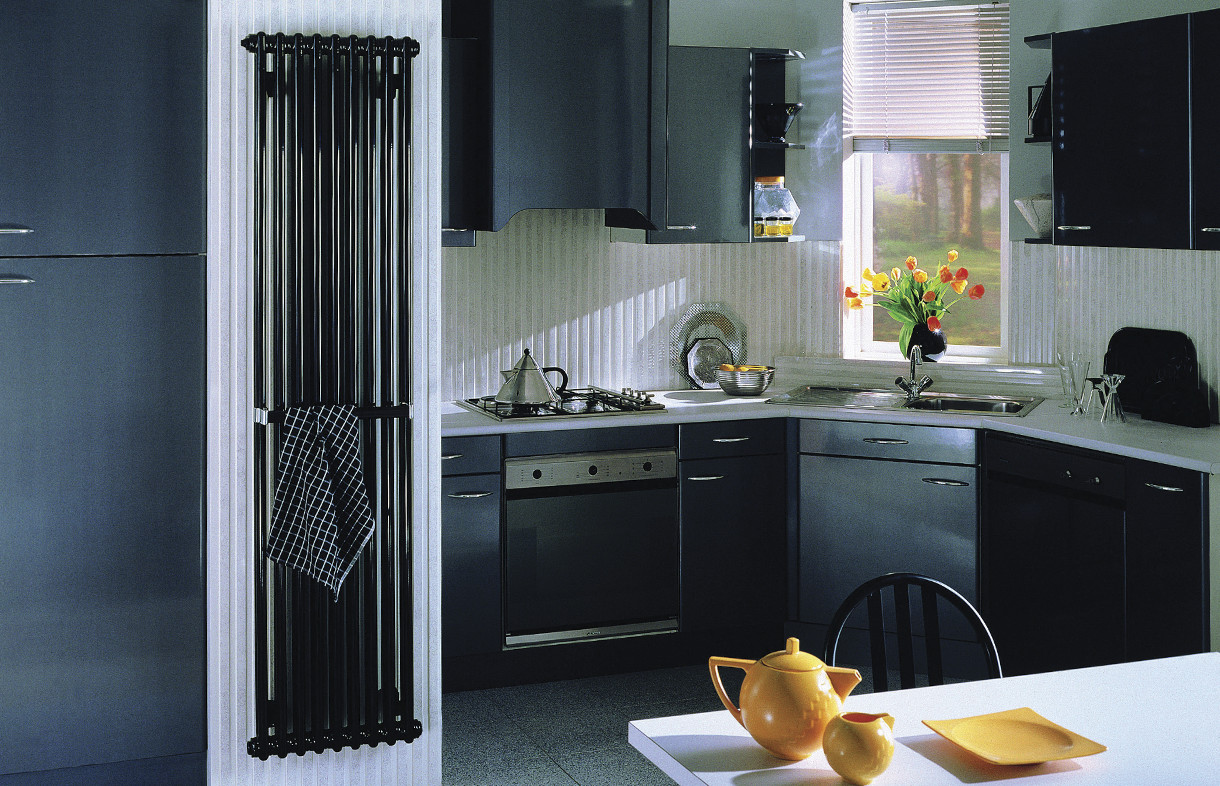 Zehnder Charleston black radiator. Central heating, electric or dual fuel available