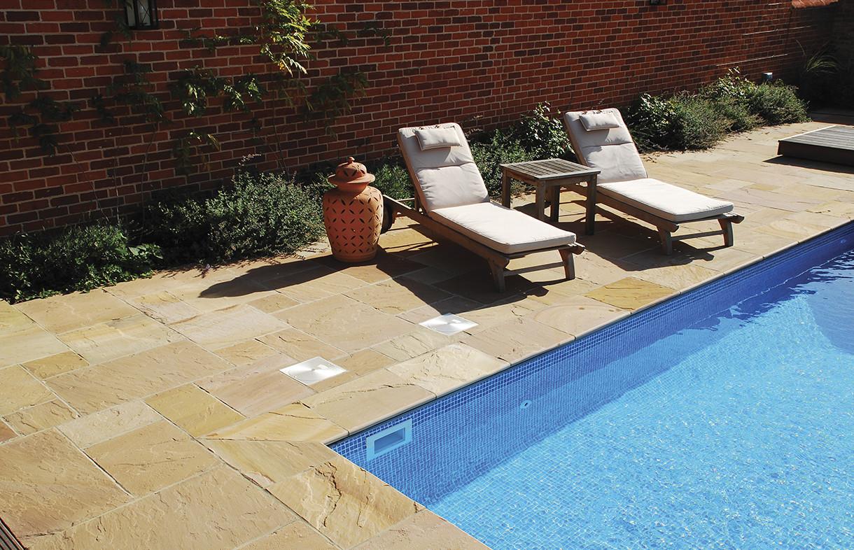 Global Stone premium sandstone bullnose riven modak