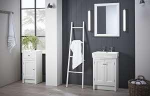 Roper Rhodes Hampton chalk white 2TH basin lights lifestyle
